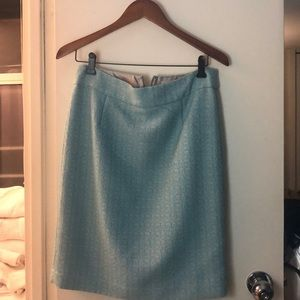 Pencil beautiful skirt in Tiffany green.